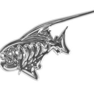 Emblema 3D cromato – Piranha