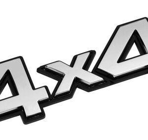 Emblema 3D cromato – 4×4