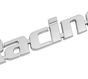 Emblema 3D cromato – Racing