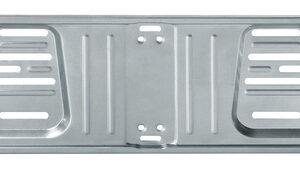 Porta targa anteriore in acciaio – Grigio