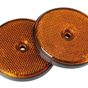 Catarifrangenti rotondi – Ø 65 mm – Arancio