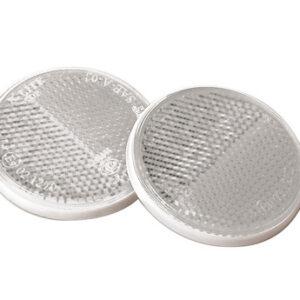 Euro-Norm, catarifrangenti rotondi – Ø 65 mm – Bianco