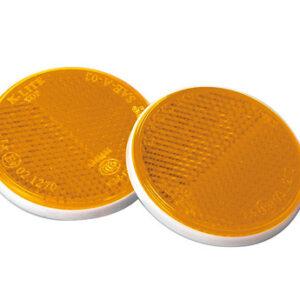 Euro-Norm, catarifrangenti rotondi – Ø 65 mm – Arancio