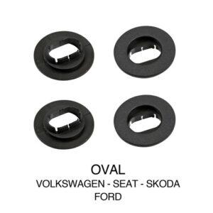 Clip fissaggio tappeti, set 4 pz – Ovale – Volkswagen, Seat, Skoda, Ford