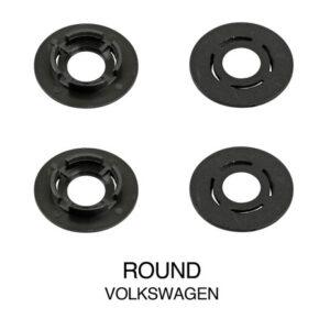 Clip fissaggio tappeti, set 4 pz – Tondo – Volkswagen