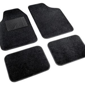 Cosmo, serie tappeti in moquette universali, 4 pz – Nero