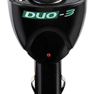 Duo-3, presa corrente con USB, 12/24V