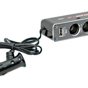 Dual-Power, presa corrente tripla con USB, 12/24V