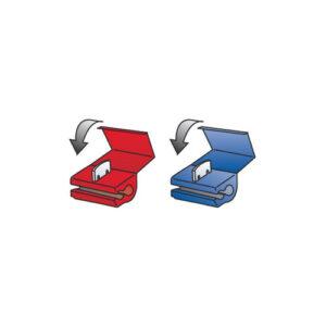 10 connettori rapidi a ghigliottina – Rosso / Blu
