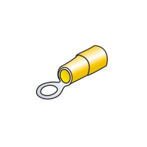 10 terminali – capicorda ad anello – Giallo