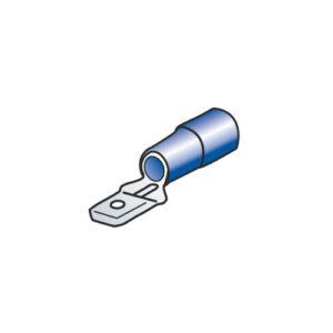 10 terminali – capicorda maschio piatti – Blu