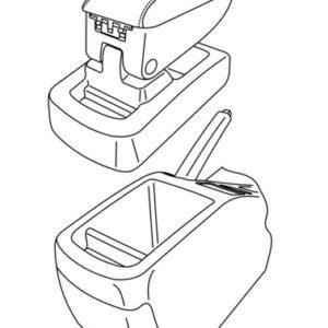 Armster 1, bracciolo su misura – Nero –  Kia Cee'd 5p (02/07>04/12) –  Kia Cee'd Sporty Wagon (09/07>08/12)