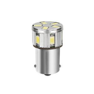10-30V Mega-Led 11 –  11 SMD x 1 chip – (P21W) – BA15s – 1 pz  – D/Blister – Bianco – Doppia polarità – Resistenza incorporata