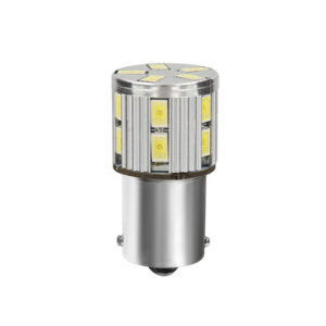 10-30V Mega-Led 17 –  17 SMD x 1 chip – (P21W) – BA15s – 1 pz  – D/Blister – Bianco – Doppia polarità – Resistenza incorporata