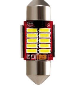 10-30V Mega-Led 10 – 10 SMD x 1 chip – 12×31 mm – SV8,5-8 – 1 pz  – D/Blister – Bianco – Doppia polarità – Resistenza incorporata