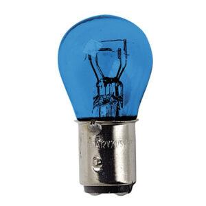 12V Blue Dyed Glass, Lampada 2 filamenti  – (P21/5W) – 21/5W – BAY15d – 2 pz  – D/Blister