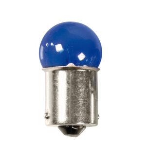 12V Blue Dyed Glass, Lampada sferica  – (R5W) – 5W – BA15s – 2 pz  – D/Blister