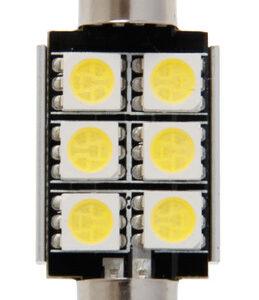 12V Hyper-Led 18 – 6 SMD x 3 chips – 15×36 mm – SV8,5-8 – 1 pz  – Scatola – Bianco – Doppia polarit? – Resistenza incorporata