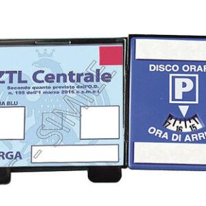 2 in 1 porta certificato con disco orario europeo
