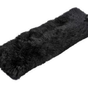 Cuscino avvolgicintura in vera pelliccia di montone – Nero
