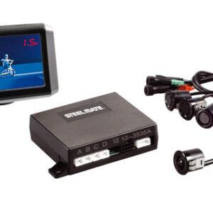 PTSV402, kit 4 sensori parcheggio con telecamera e monitor, 12V