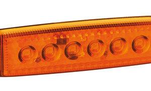 Luce ingombro a 6 Led, montaggio in superficie,12/24V – Arancio