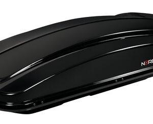 Box 430D, box tetto in ABS, 430 litri, doppia apertura – Nero lucido