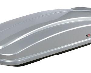Box 530, box tetto in ABS, 530 litri – Argento lucido